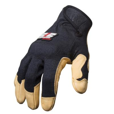 Goatskin Leather Fire / Abrasion Resistant Fabricator's Safety Work Gloves, XXX-Large
