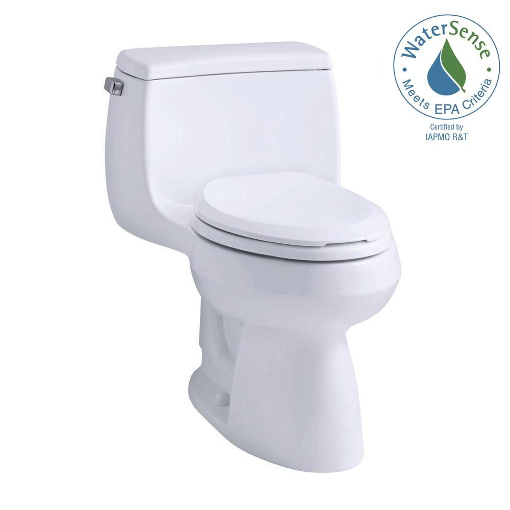 KOHLER Gabrielle Comfort Height 1 Piece 128 GPF Single Flush Compact Elongated Toilet With AquaPiston