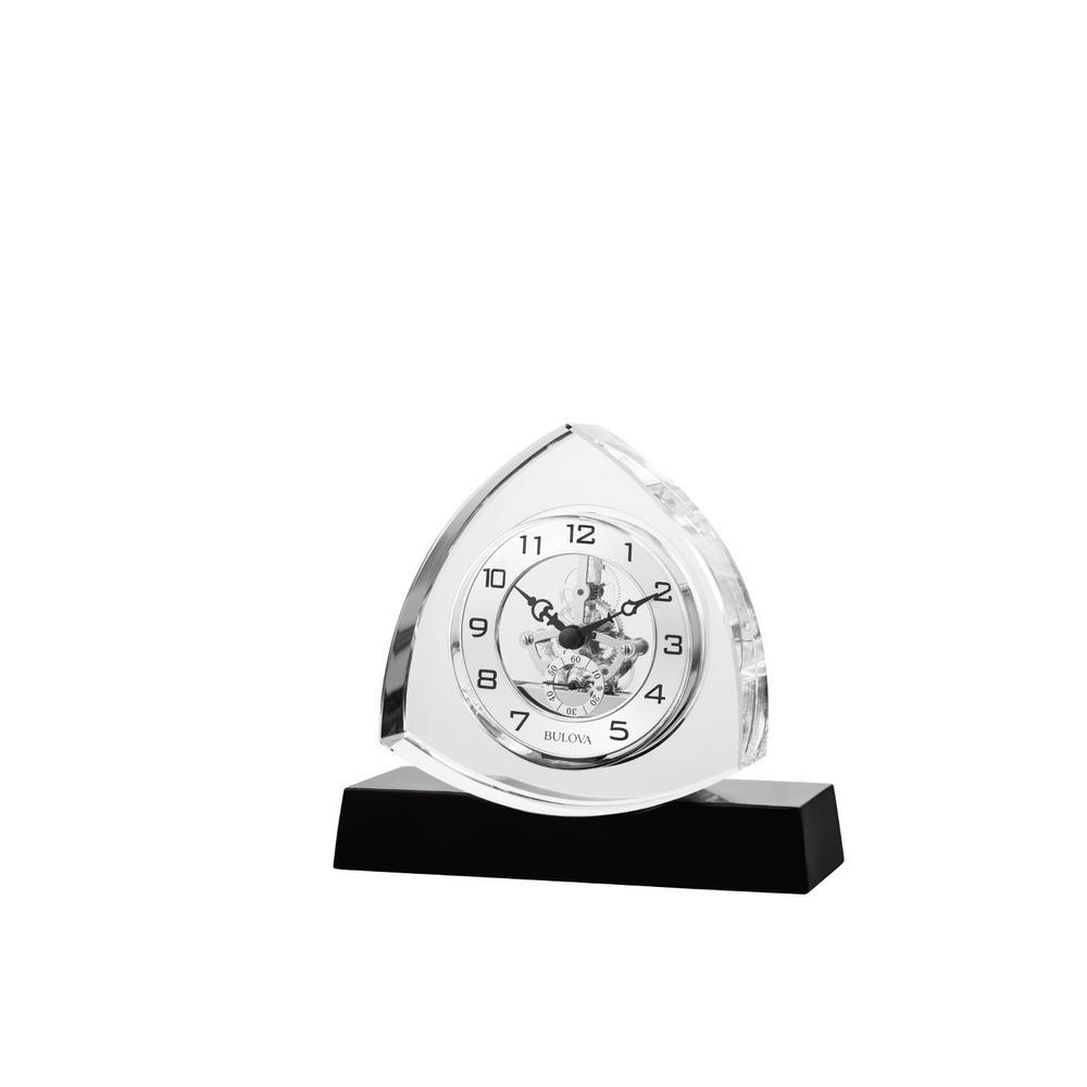 6 in. H x 6.5 in. W Crystal Table Clock with