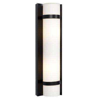 Negron 2-Light Black Incandescent Sconce