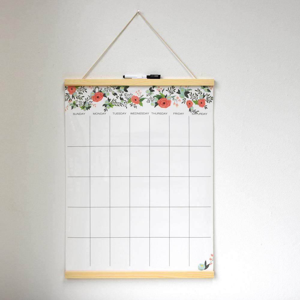 Garden Rose Dry Erase Tapestry Memo Board