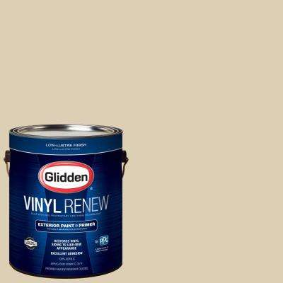 1 gal. #HDGO61D Georgian Ivory Low-Lustre Exterior Paint with Primer