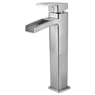 Kenzo Single Hole Single-Handle Vessel Bathroom Faucet in Brushed Nickel