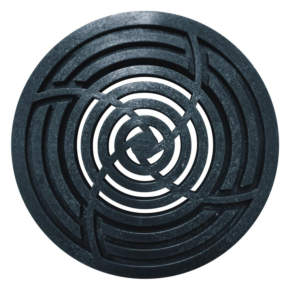 6 in. Round Black Grate