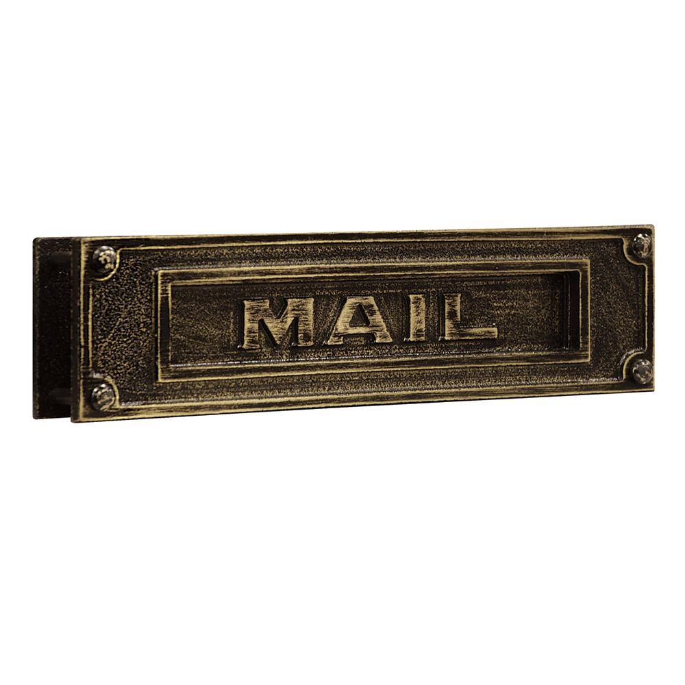 4000 Series 13.25 in. W x 3.5 in. H x 1.75 in. D - Antique - Mail Slots - Mailboxes, Posts & Addresses - The Home Depot
