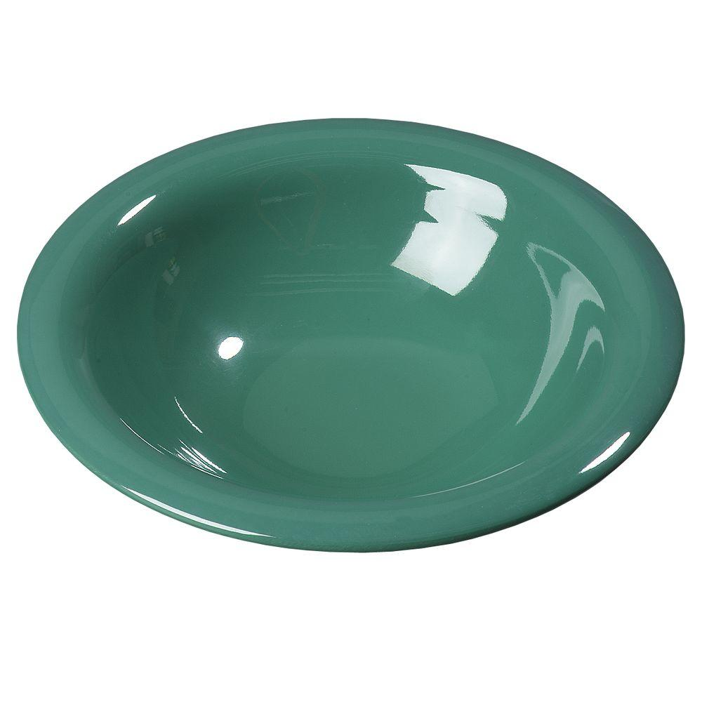 12.9 oz., 7.25 in. Diameter Melamine Rimmed Bowl in Green (Case