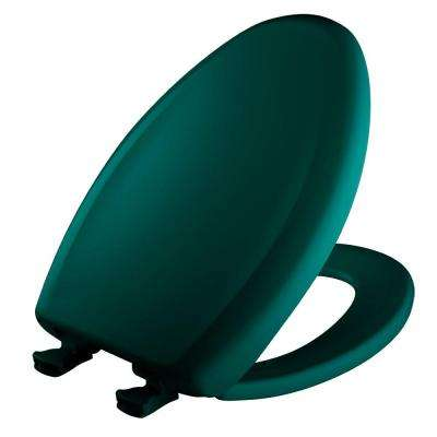 Slow Close STA-TITE Elongated Closed Front Toilet Seat in Teal