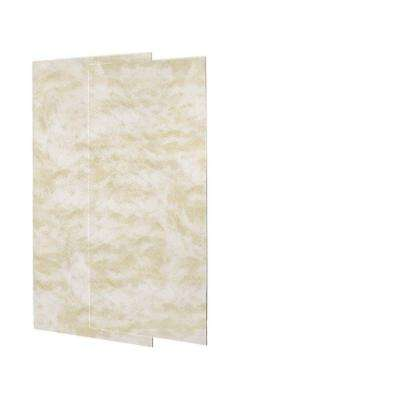 1/4 in. x 36 in. x 72 in. Two Piece Easy Up Adhesive Shower Wall Panels in Cloud White