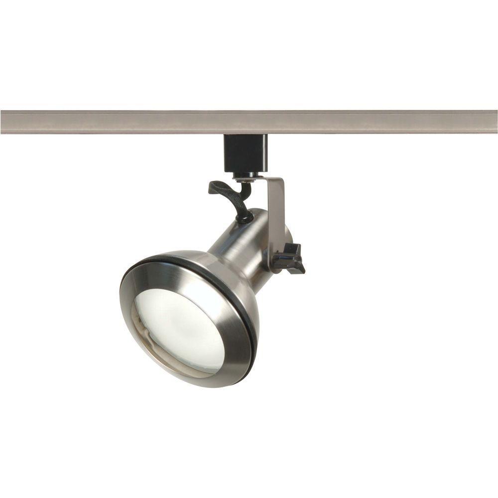 1-Light PAR30 Brushed Nickel Euro Style Track Lighting Head