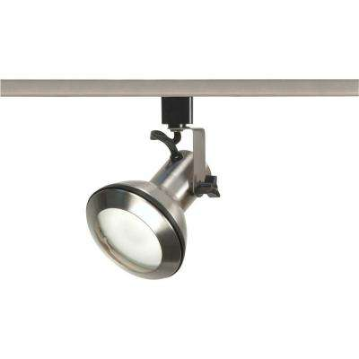 1-Light PAR30 Brushed Nickel Euro Style Track Lighting Head