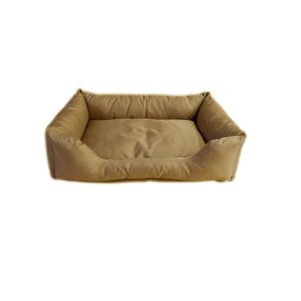 Carolina Pet Company Brutus Tuff Kuddle Medium Khaki Lounge Bed