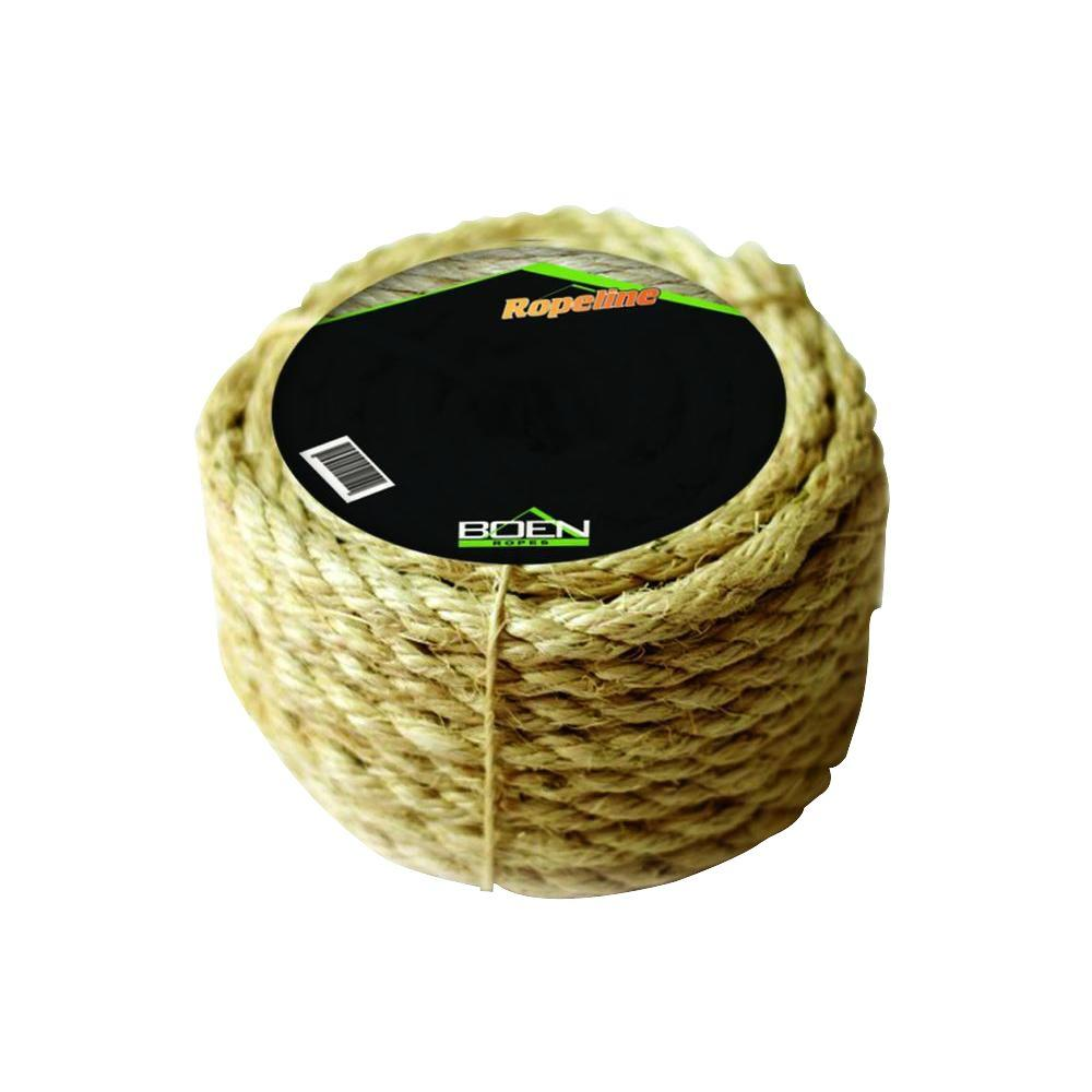 1/4 in. x 50 ft. 3-Strand Twisted Sisal Rope
