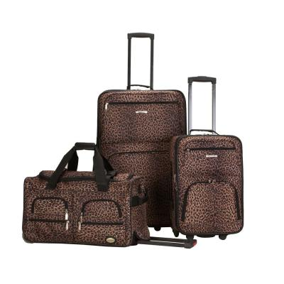 Rockland Expandable Spectra 3-Piece Softside Luggage Set, Leopard