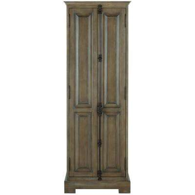 Clinton 24 in. W Linen Cabinet in Almond Latte