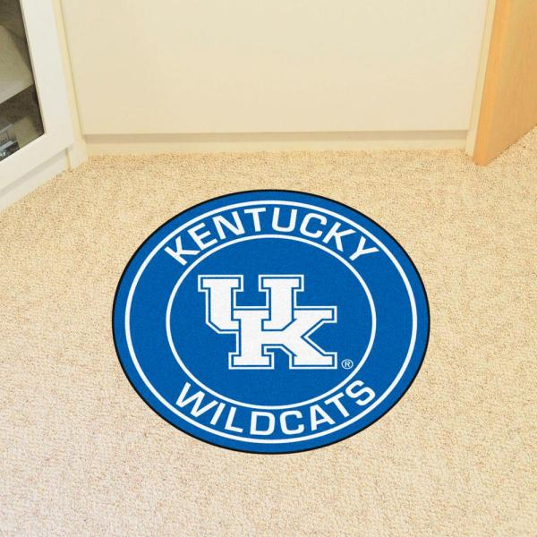 Fanmats Ncaa University Of Kentucky Blue 2 Ft X 2 Ft Round Area Rug 18614 The Home Depot