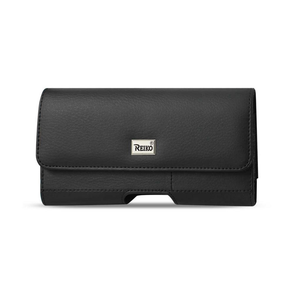 Medium Horizontal Leather Holster in Black