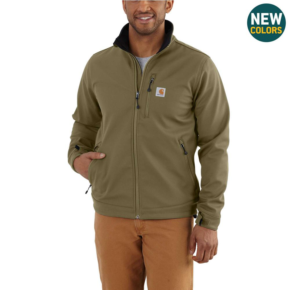 89ec31c0abb816 Carhartt Men's Large Military Olive Nylon/Spandex Crowley Jacket ...