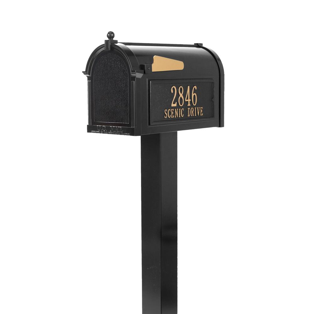 Whitehall Products Premium Black Streetside Mailbox