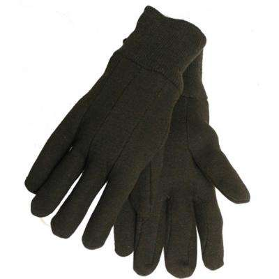 Men's Brown Jersey Gloves (6-Pack)