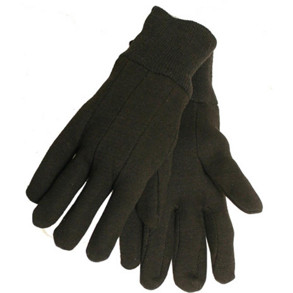 Midwest Quality Gloves Men's Brown Jersey Gloves (6-Pack)