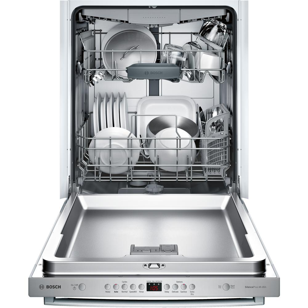 Bosch 100 Series Top Control Tall Tub Dishwasher In Stainless Steel With Hybrid And 3rd Rack 48dba