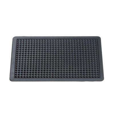 Black 3 ft. x 4 ft. Rubber Anti Fatigue Mat