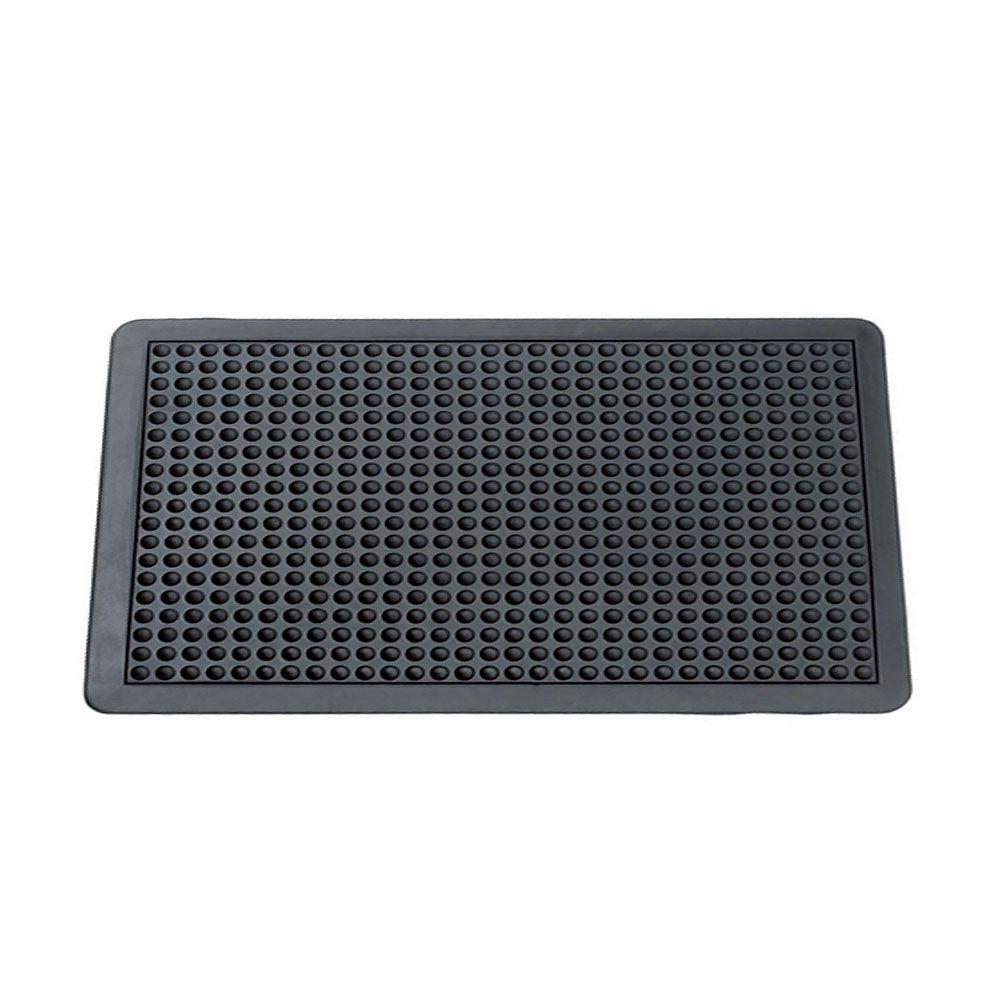 Black 3 ft. x 4 ft. Rubber Anti Fatigue Mat
