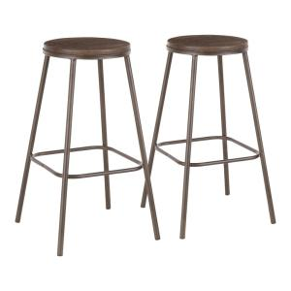 Terrific Lumisource Clara Industrial Round 30 In Antique Metal And Ibusinesslaw Wood Chair Design Ideas Ibusinesslaworg