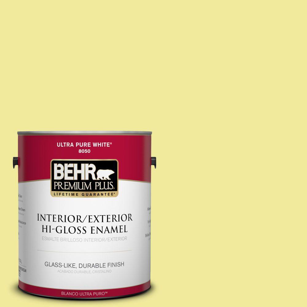 1-gal. #400A-3 Pear Hi-Gloss Enamel Interior/Exterior Paint