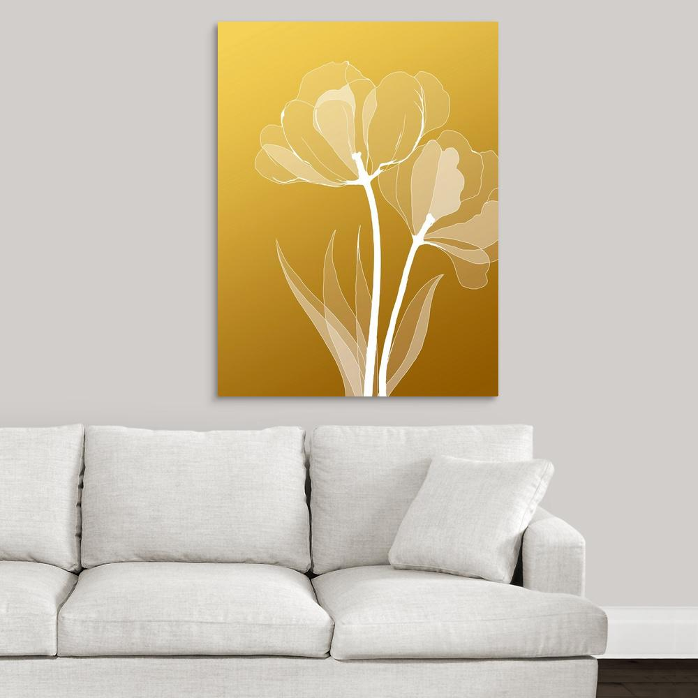 ''Floral 6'' by GraphInc Studio Canvas Wall Art