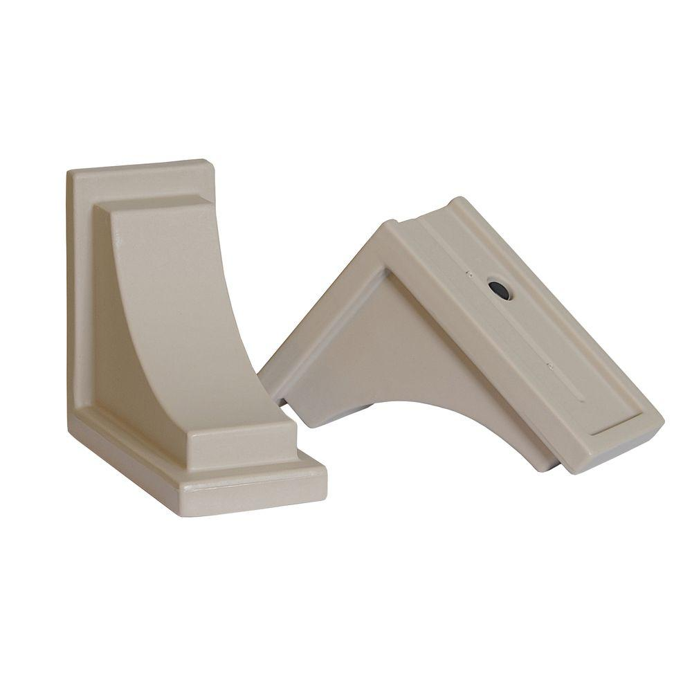Nantucket Decorative Brackets in Clay (2-Pack)