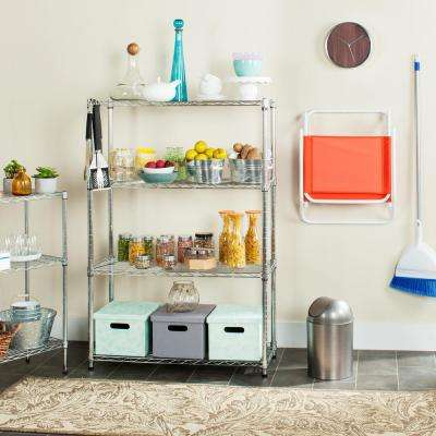 Bravo 3 Shelves Chrome Wire Decorative Shelving Rack