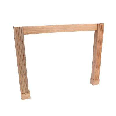 Traditional 63.5 in. x 50 in. Oak Leg and Skirt Kit