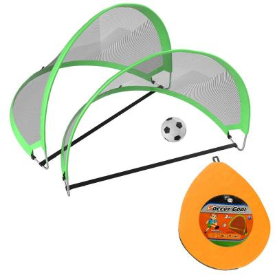 Kids Play and Practice Pop-Up Soccer Goals (Set of 2)