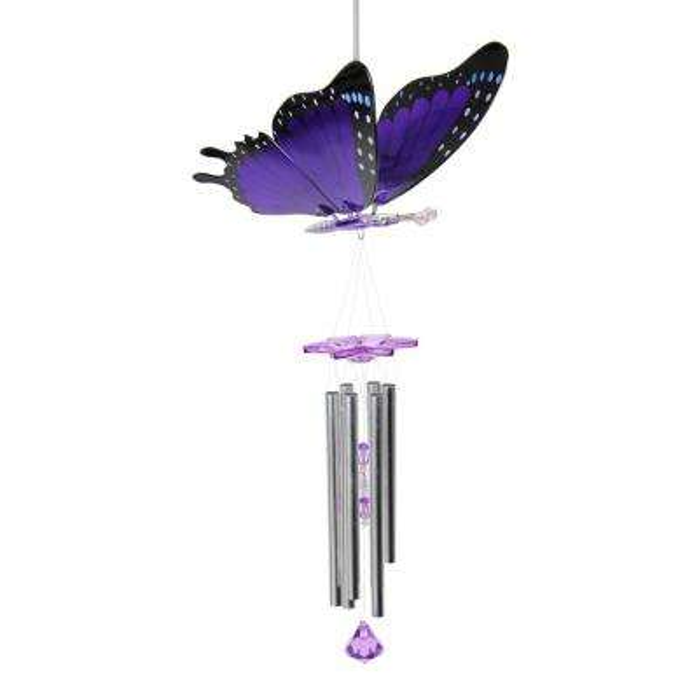 Large Purple Butterfly Windy Wing Wind Chime