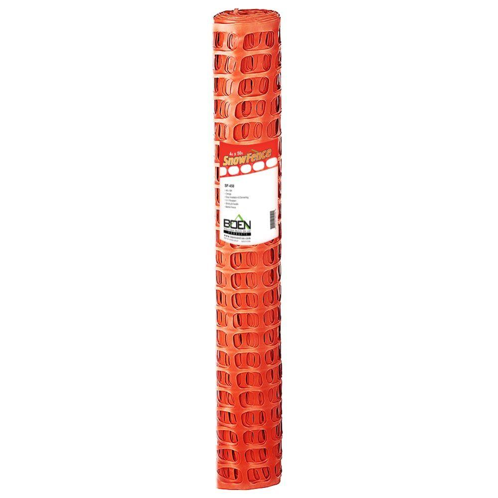 4 ft. x 50 ft. Orange Construction Snow/Safety Barrier Fence