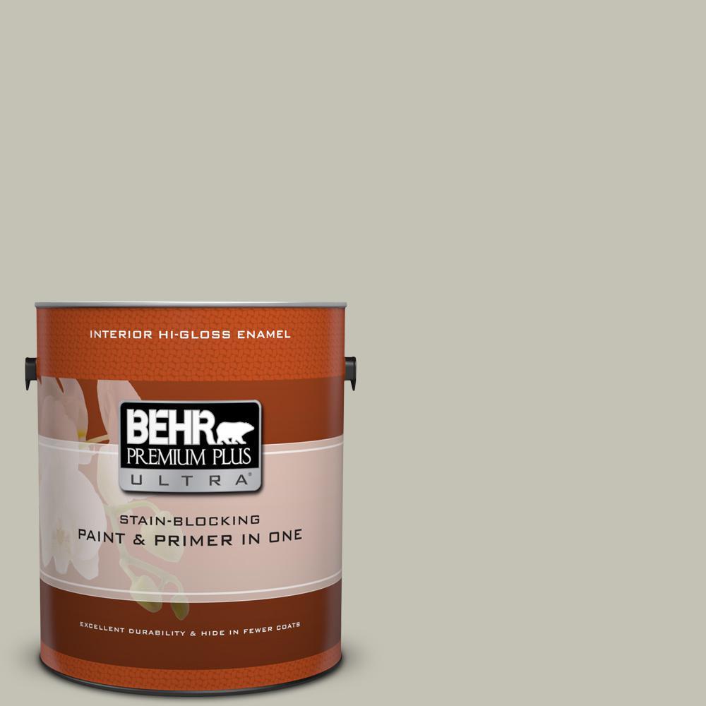 1 gal. #BNC-04 Comforting Gray Hi-Gloss Enamel Interior Paint
