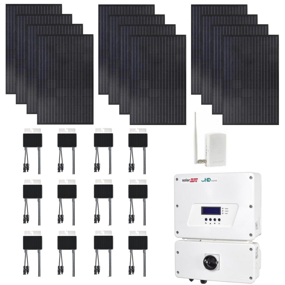 3600-Watt Expandable Monocrystalline Grid-Tied Solar Power Kit