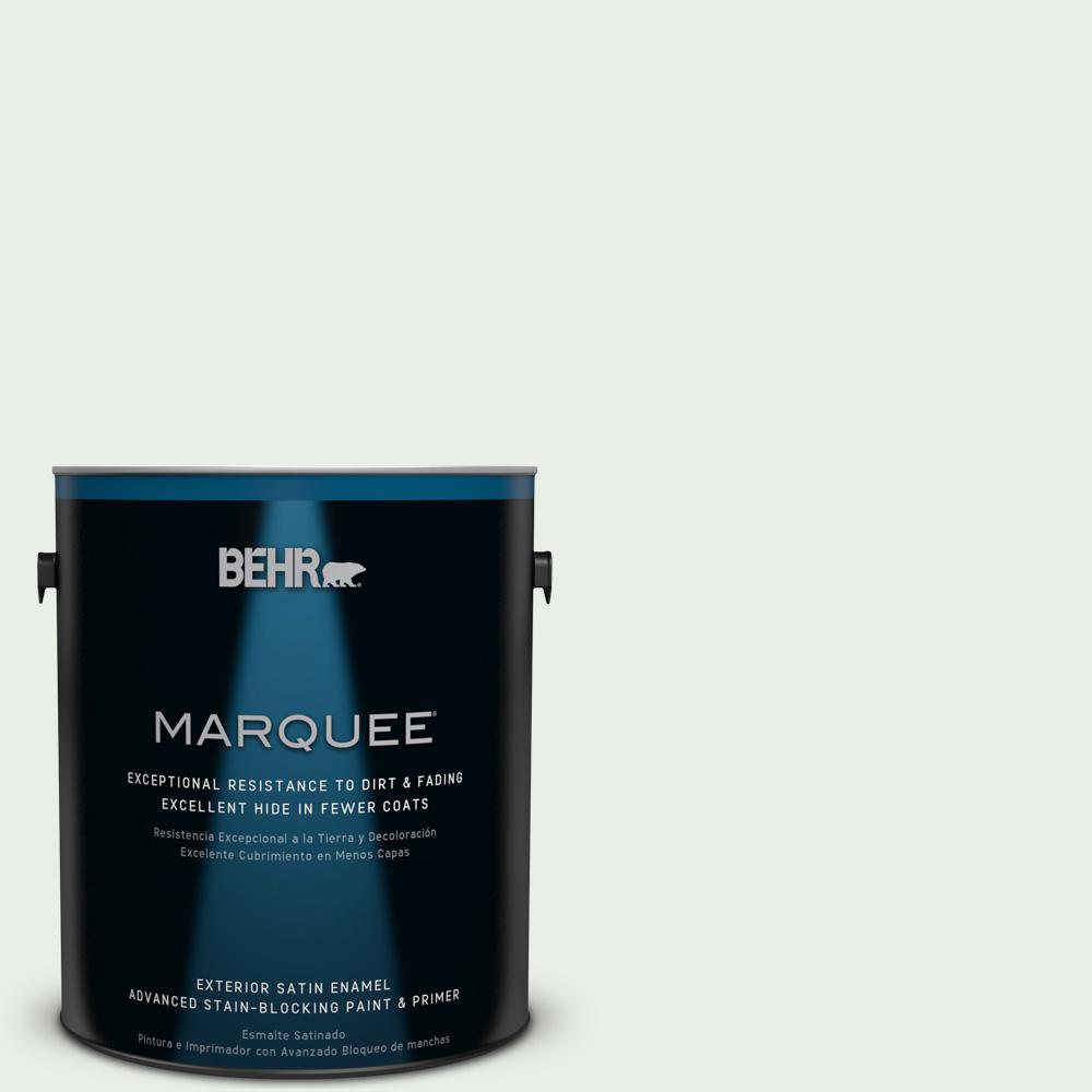 BEHR MARQUEE 1-gal. #440C-1 Cool White Satin Enamel Exterior Paint