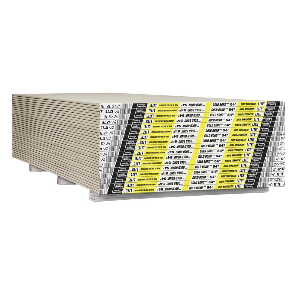 Gold Bond 1/2 in. x 4.5 ft. x 12 ft. High Strength Lite Tapered Edge Gypsum Board