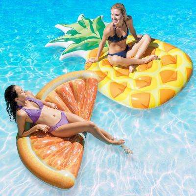 Pineapple and Orange Slice Mat Pool Float Combo Pack