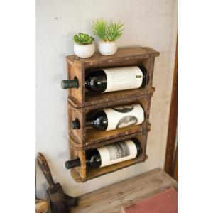 Brown Brick Mold Hanging Wine Rack by