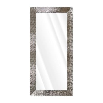 Oversized Rectangle Shiny Silver Beveled Glass Contemporary Mirror (65.5 in. H x 31.5 in. W)