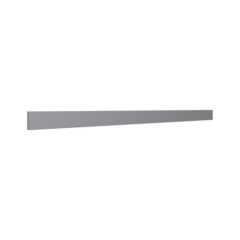 J COLLECTION 3 in. x 90 in. x 0 .75 in. Cabinet filler strip in gray
