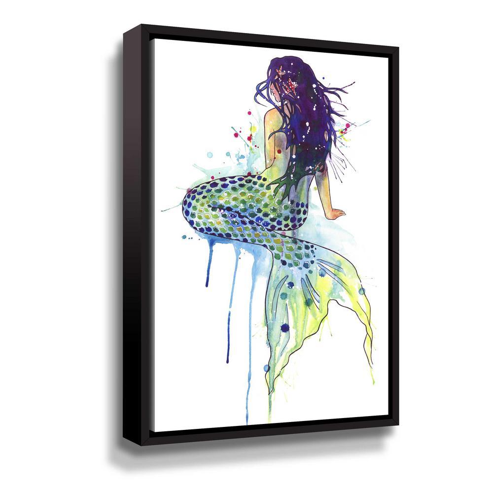'Mermaid' by  Sam nagel Framed Canvas Wall Art