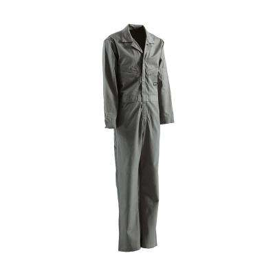 Men's 58 in. x 30 in. Grey Cotton and Nylon FR Deluxe Coverall