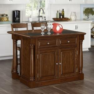Home Styles Santiago Cognac Kitchen Island With Seating-5575-948G ...