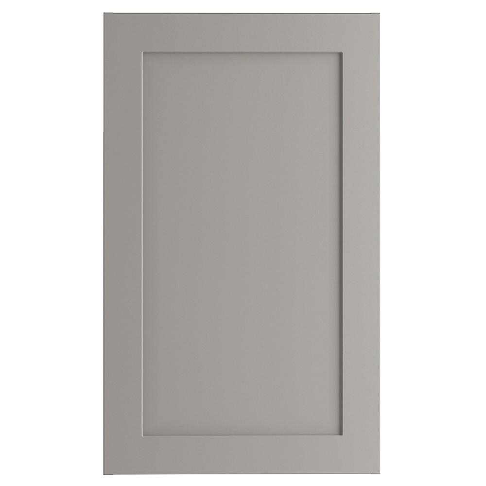 Hampton Bay Cambridge Assembled 18x30x12 in. Wall Cabinet in Gray