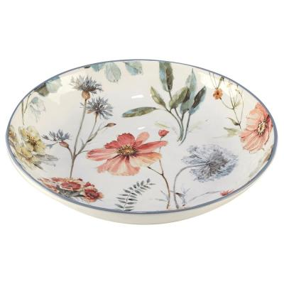 Country Weekend Multi-Colored 13 in. x 3 in. Serving/Pasta Bowl