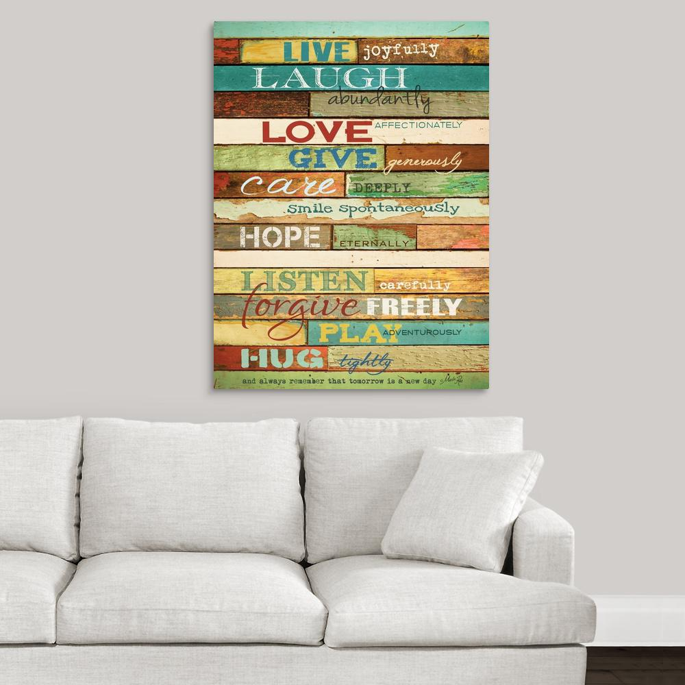 greatbigcanvas live joyfully by marla rae canvas wall art